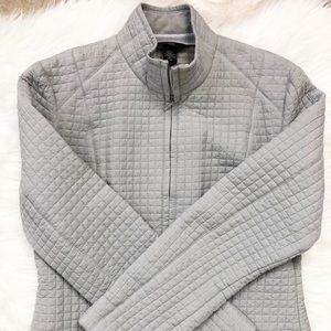 Body by Victoria 100% silk quilted zip up jacket
